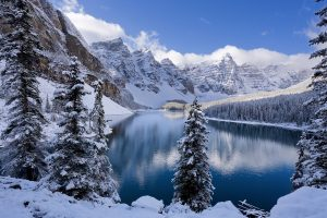 Moraine Lake In Winter Canada