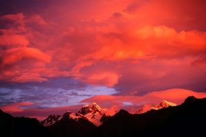 Red Sky Over The Mountains